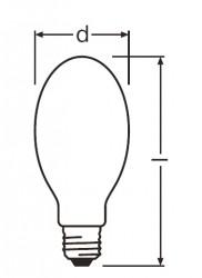 Лампа натриевая высокого давления - Philips SON H  110W (для прямой замены лампы ДРЛ 125)
