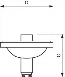 Лампа металлогалогенная с отражателем - Philips MASTERColour CDM-R111  20W (угол 24)